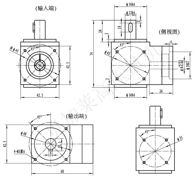 AR042系列精密直角减速机